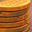 Stock Photo: Manhole covers