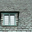 Slate roof - Stock Photo