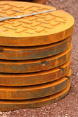 Manhole covers — Foto Stock