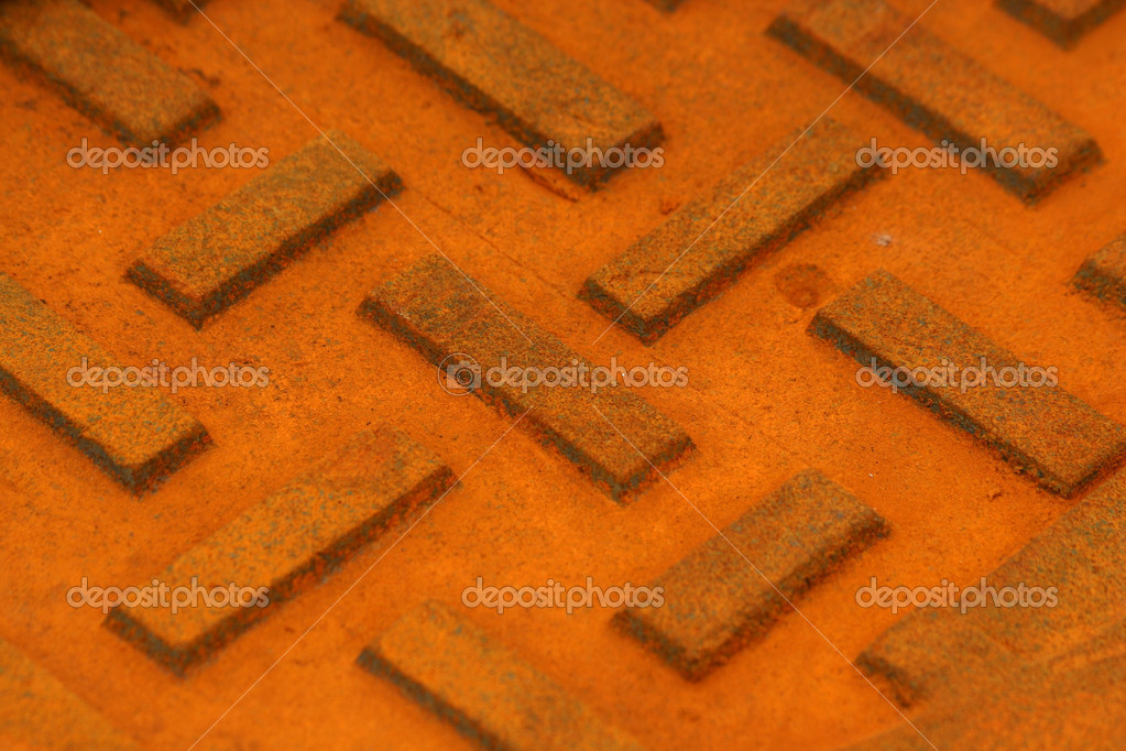 A Manhole cover macro abstract texture background — Stock Photo #2012159