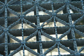Metal bridge grating — Stock Photo