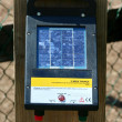 Electric fence control panel — Stock Photo