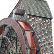 Giant water wheel for a old mill — Stock Photo