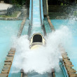 Stock Photo: Log flume amusement park ride