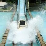 Log flume amusement park ride — Stock Photo
