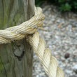 A piece of Rope wrapped around a pole — Stock Photo