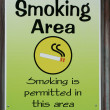 Stock Photo: Smoking permitted sign