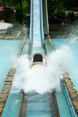 Log flume amusement park ride — Stock Photo
