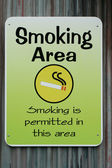 Smoking permitted sign — Stock Photo