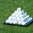 Golf ball pyramid — Stock Photo