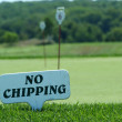 Stock Photo: No chipping sign