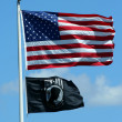 Stock Photo: Americand POW flags