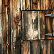 Old barn with closed window — Stock Photo #2040288
