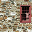 Old stone house with window — Stock Photo