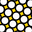Yellow polka dots background - Stock Photo