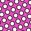 Pink polka dots background - Stock Photo
