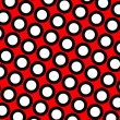 Red polka dots background - Stock Photo