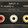 Stock Photo: Audio video input jacks