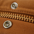 Large gold zipper macro with snaps — Lizenzfreies Foto