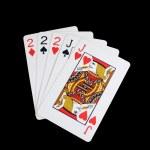 Isolated full house poker hand — Stock Photo #2059632