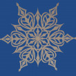 Snowflake on blue background — Stock Photo