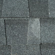 Black asphalt roofing — Stock Photo