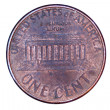 Stock Photo: Isolated US penny back