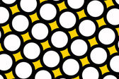 Yellow polka dots background — Stock Photo