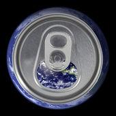 オープン地球ソーダ缶蓋します。 — ストック写真