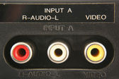 Audio video input jacks — Stock Photo