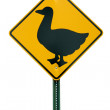 Duck crossing sign — Stok fotoğraf