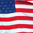 US Flag macro background - Stock Photo