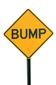Bump Sign — Foto Stock