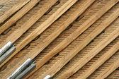 Carpenters folding ruler background — Stock Photo