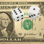 Front Half one dollar bill — Stock Photo