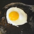 Sunnyside up egg frying in a pan — Stock Photo #2072692