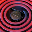 Stock Photo: Red Hot Electric stove coils