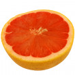 Royalty-Free Stock Photo: Isolated pink grapefruit half on white