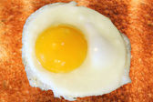 Toast with egg sunny side up — Stock Photo