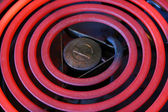 Red Hot Electric stove coils — Stock Photo