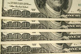 Front of a one hundred dollar bill — Stock Photo