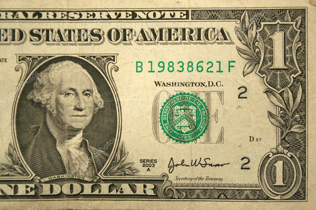 Front Half of a one dollar bill — Stock Photo #2072497