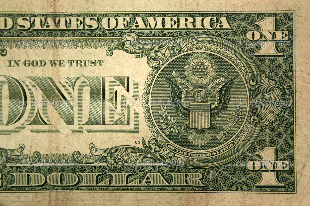 Back Half of a one dollar bill  Lizenzfreies Foto #2072517