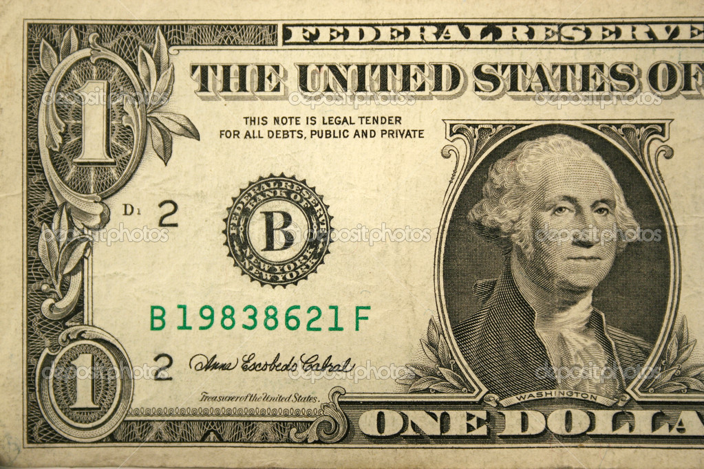 Front Half of a one dollar bill — Stock Photo #2072545
