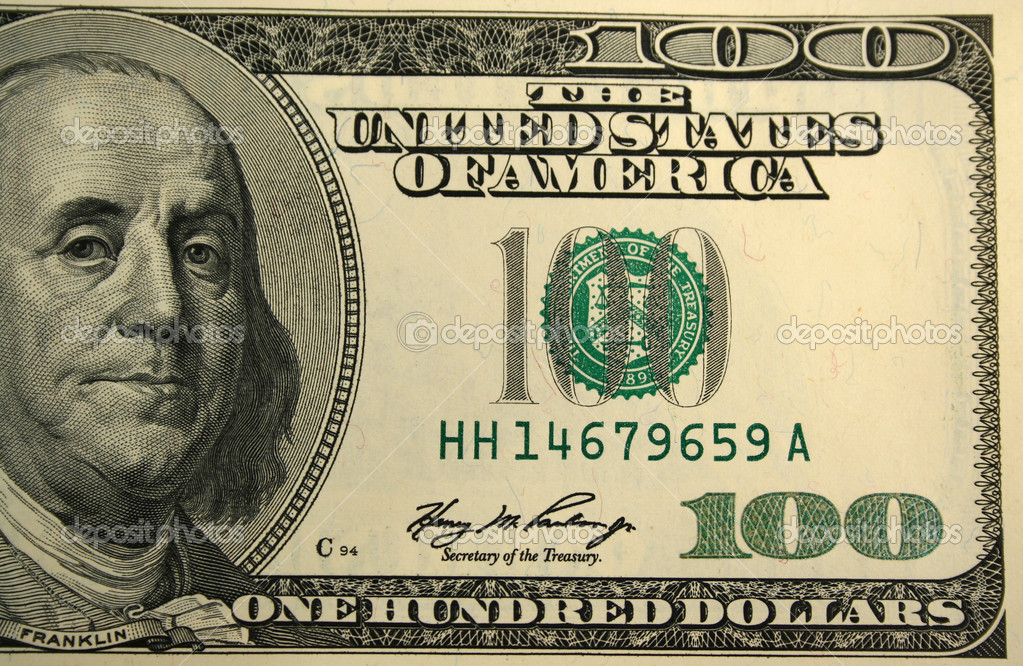 dollar bill font. hundred dollar bill. one