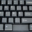 Stock Photo: Time on a Keyboard