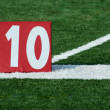 Football ten yard marker — Stock Photo