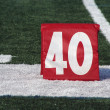 Stock Photo: Football forty yard marker