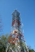 Radio antenna tower — Stock Photo