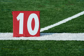Football ten yard marker — Stok fotoğraf
